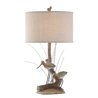 "Seahaven Natural Shore Birds Table Lamp 30"" high"