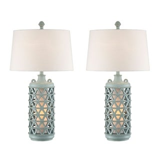 "Seahaven Oak Island Lantern Night Light Table Lamp 31"" high"