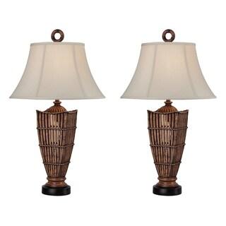 "Seahaven Rattan Night Light Table Lamp 33"" high"