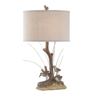 "Seahaven Natural Sandpipers Table Lamp 30"" high"