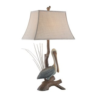 "Seahaven Natural Pelican Table Lamp 33"" high"