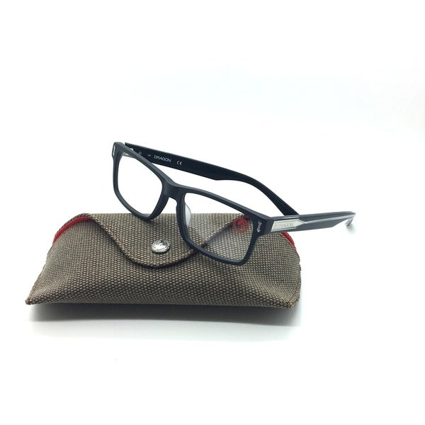 19365a8c63 Dragon Matte Black Eyeglasses DR 151 002 Cliff 53 mm Rectangle Cn Demo lens