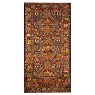 Handmade Herat Oriental Afghan Hand-knotted Tribal Balouchi Wool Rug (3'10 x 7'3)