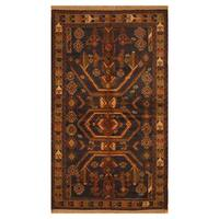 Handmade Herat Oriental Afghan Hand-knotted Tribal Balouchi Wool Rug (3'8 x 6'6) - 3'8 x 6'6