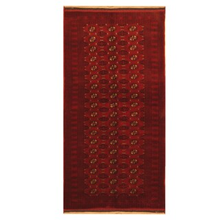 Handmade Herat Oriental Afghan Hand-knotted Tribal Balouchi Wool Rug (3'5 x 7'2) - 3'5 x 7'2