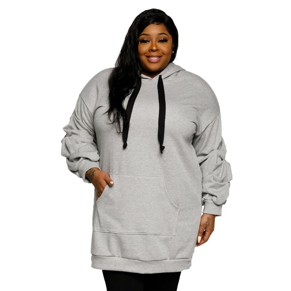 Shop Xehar Womens Plus Size Casual Oversized Ruched Hoodie Sweater