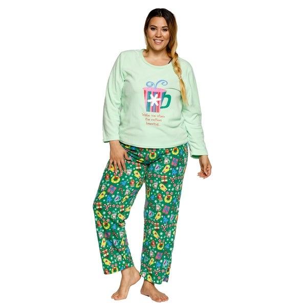 xehar womens soft plush christmas sleepwear pajama set 2 piece set