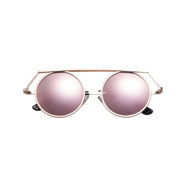 df7f2eedb6d Shop SunnySide LA Retro SPAR054 Unisex Polished Gold Metallic Frame   Champagne Color Leans With Full UV A+B Protection Sunglasses - Free  Shipping Today ...