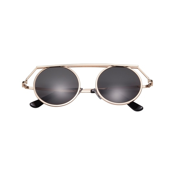 6d542a3b6d1 Shop SunnySide LA Retro SPAR068 Unisex Polished Gold Metallic Frame   Charcoal Color Leans With Full UV A+B Protection Sunglasses - Free Shipping  Today ...