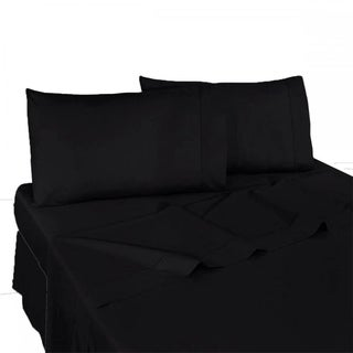 Queen Size Bed Sheet Set Brushed Microfiber Sheets Bedding 4 Pcs