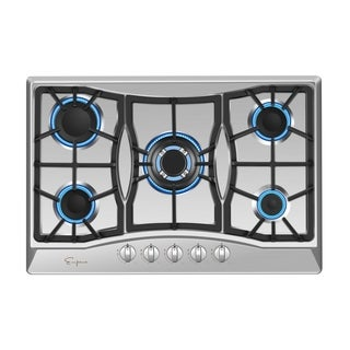 "Empava 34"" Stainless Steel Built-in 5 Sabaf Burners Stove Gas Cooktop HQ5B90A"