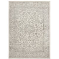 "Jasmin Collection Ivory/Grey/Navy Oriental Medallion Design Area Rug (7' 10 x 9' 10) - 7'10"" x 9'10"""