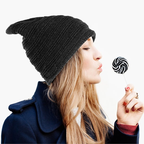 420a55cd406 Zodaca Unisex Winter Insulated Warm Thick Cable Knit Baggy Beanie Knit Hat  Skull Cap with Plush
