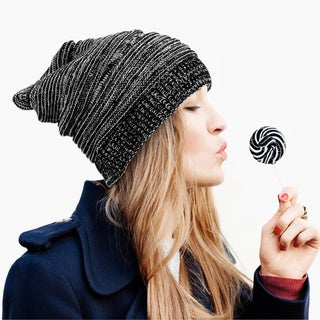 Zodaca Unisex Winter Oversized Chunky Mix Color Warm Cable Knit Baggy Beanie Knit Hat Skull Cap for Men and Women