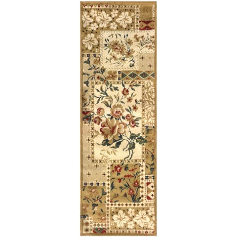 "Superior Designer Flower Patch Runner Rug - 2'6"" x 8'"