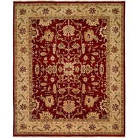 Traditional Red/Ivory Hand-Knotted Area Rug (12' x 15') - 12' x 15'