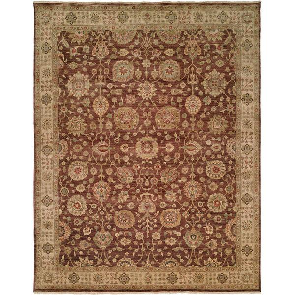 Bashir Brown/Ivory Hand-Knotted Wool Area Rug (11' x 16')