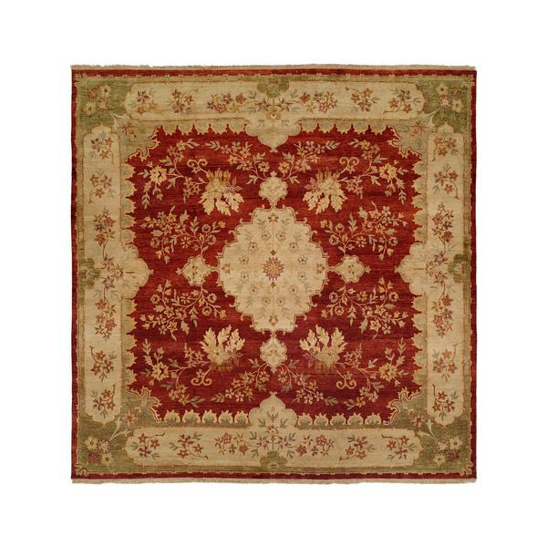 Carol Bolton Rose/Chenille Wool Hand-knotted Area Rug (12' x 18')