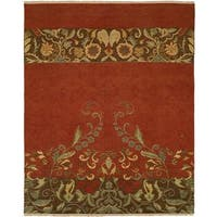 Caspian Multi Red Wool Soumak Area Rug (12' x 15') - 12' x 15'