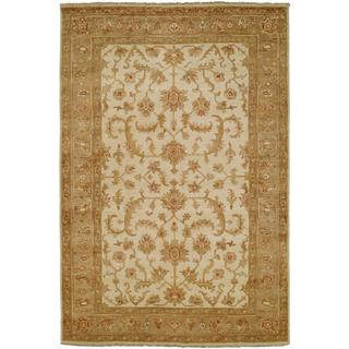 ISMIR Ivory/Camel Hand-Knotted Area Rug (12' x 18')