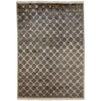 Jade Earth Tones Hand-Knotted Area Rug (12' x 18') - 12' X 18'