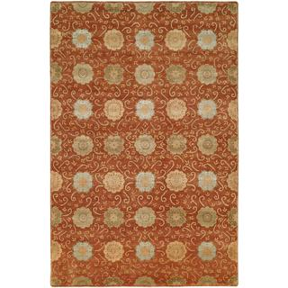 Nirvana Rust Wool Hand-knotted Area Rug (12' x 15')