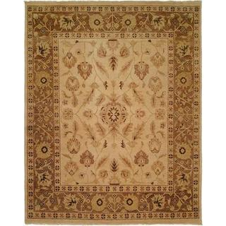 Oushak Ivory/Light Brown Hand-knotted Area Rug (11' x 16')