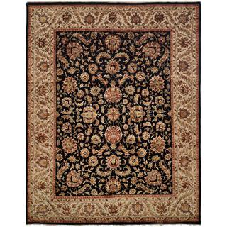 Tabernacle Black/Ivory Hand-knotted Area Rug (12' x 18')