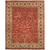 Tabernacle Rust/Ivory Hand-Knotted Area Rug (11' x 16') - 11' x 16'
