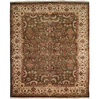 Tabriz Green/Ivory Hand-Knotted Area Rug - 12' x 18'