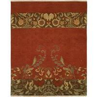 Caspian Soumak Multicolor Wool Area Rug (10' Round)
