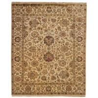 Jaipura Ivory Hand-knotted Wool Area Rug (6' x 6') - 6' Square