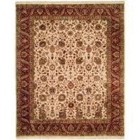 Kabir Burgundy/Red Wool Hand-knotted Area Rug - 6' Round