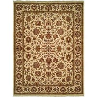 Lateef Ivory Wool Hand-knotted Area Rug - 8' Square
