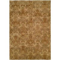Royal Manner Derbshire/Green Hand-knotted Area Rug (6-inch Square) - 6' Square