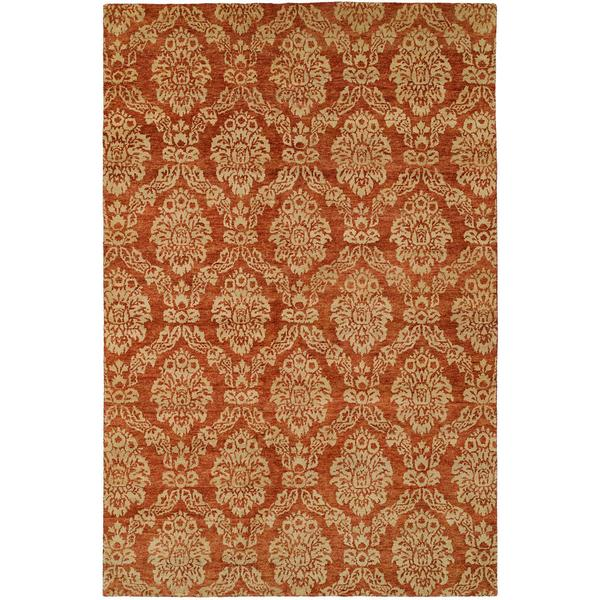 Royal Manner Derbyshire/Rust Hand-knotted Wool Area Rug (10' Square)