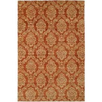 Royal Manner Derbyshire/Rust Hand-knotted Wool Area Rug (8' Square) - 8' Square