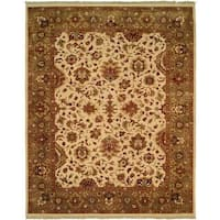 Royale Camel Wool Hand-knotted Area Rug (6' Square) - 6' Square
