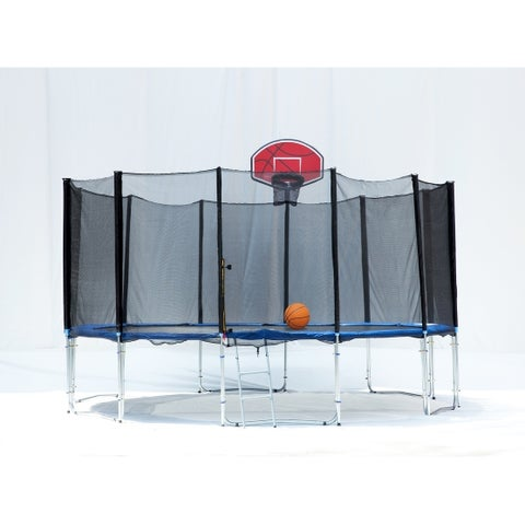 16FT Round Trampoline with Safety Enclosure, Pad and Ladder