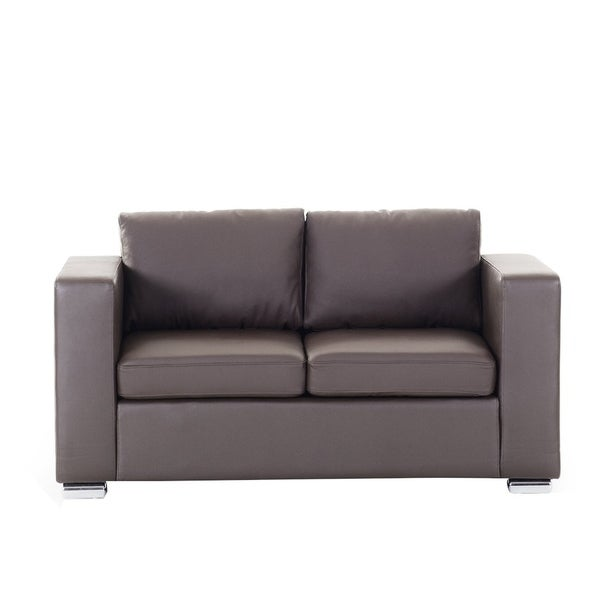 2 Seater Leather Sofa Brown: Shop 2 Seater Sofa Brown Leather HELSINKI