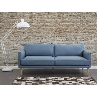 Modern Fabric Sofa Blue UPPSALA