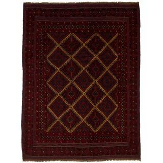 eCarpetGallery Hand-Knotted Tajik Caucasian Red Wool Rug (4'5 x 5'10)