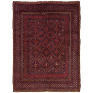 eCarpetGallery Hand-Knotted Tajik Caucasian Red Wool Rug (4'5 x 6'0)
