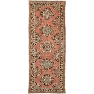 eCarpetGallery Hand-Knotted Konya Anatolian Brown Wool Rug (4'7 x 12'0)