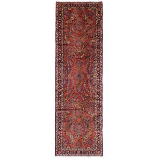 eCarpetGallery Hand-Knotted Lilihan Brown Wool Rug (2'7 x 9'0)