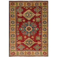 eCarpetGallery Hand-Knotted Finest Gazni Red  Wool Rug (2'9 x 4'0)