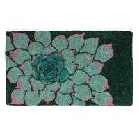 Succulent Handwoven Coconut Fiber Doormat