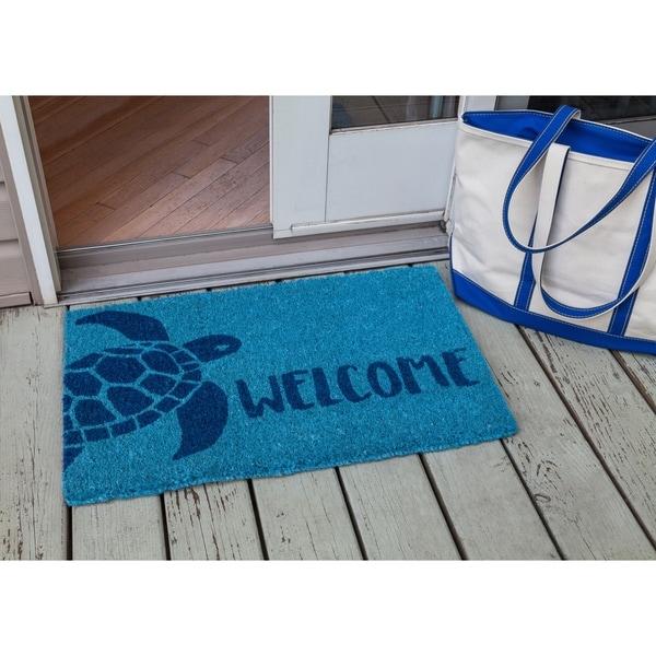 Turtle Handwoven Coconut Fiber Doormat