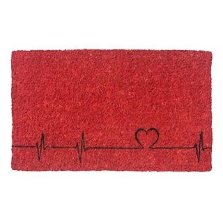 Heartbeats Handwoven Coconut Fiber Doormat