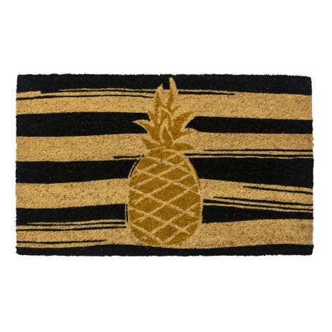 Golden Pineapple Non Slip Coir Doormat